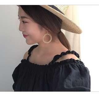 🚚 FUN 日雜~韓風 優雅環形耳環 圓圈耳環  耳夾 夾式耳環 (免耳洞)