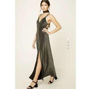 F21 Glitter Maxi Dress