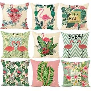Flamingo tropical Cushion Covers