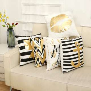 white gold cushion covers
