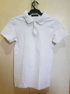 F&H White polo shirt