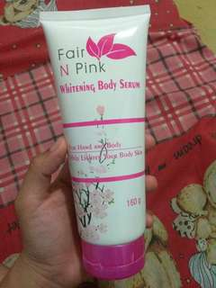 Whitening body serum