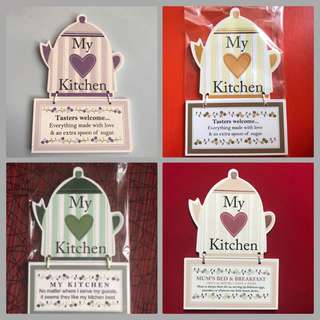 Love Teapot Country Kitchen Wall Decor