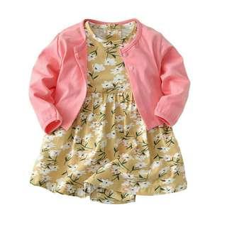 INSPIRED BABY ROMPER DRESS + CARDIGAN
