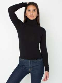 American apparel black turtleneck
