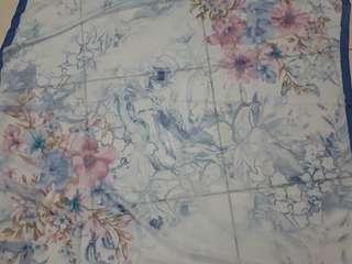 PATTERN VOAL BLUE BEAUTIFUL FLOWER