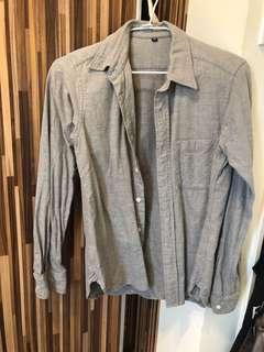 🚚 無印良品灰色襯衫