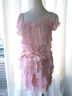 🚚 Xing專櫃 粉色系兩件式洋裝