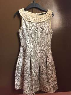 Authentic Zara embellished dress