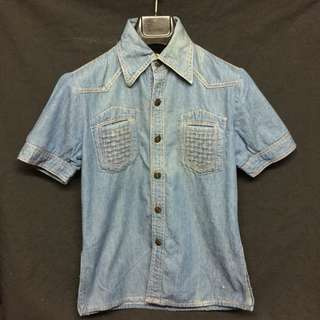 VINTAGE 70s DENIM TOP FOR RENTAL