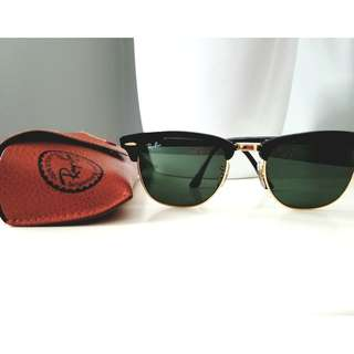 Ray Bans ClubMaster Sunglasses Black/Green Classic