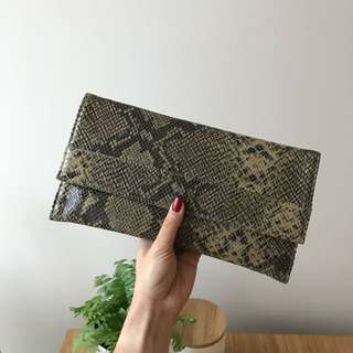 Snake Skin printed clutch