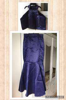 Custom made two piece long gown