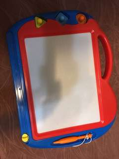 Toddler Kid Writing Board with 3magnet stamps. Educational toys