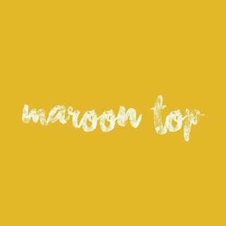 Maroon criss cross top