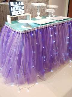 Birthday / ROM / Wedding Dessert Table & Backdrop Setup / Props Rental Service