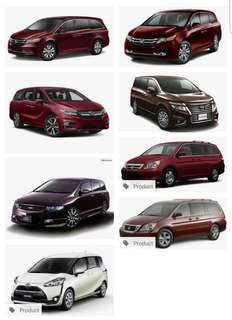 Looking for MPV or large Sedan Car to rent