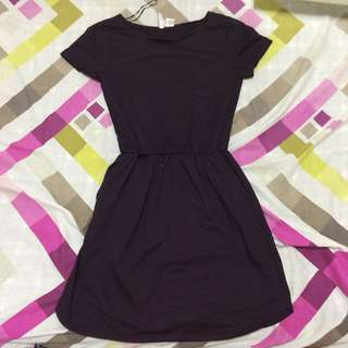 H&M Plum Jersey Dress