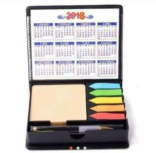 sticky note pad with ballpen