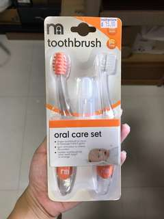 Brand new Mothercare Toothbrush Oral Care Set