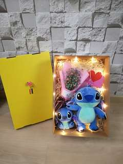 Baby breath with stich gift set