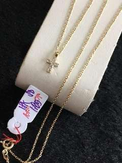 Pure 18k saudi gold necklace for her