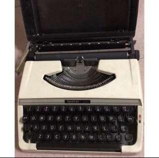 打字機 brother 215 古董 機械式打字機 珍藏品 收藏品