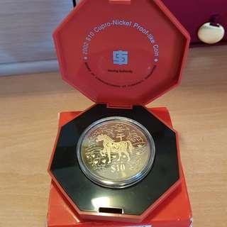 2002 $10 Cupro-Nickel Proof-like Coin