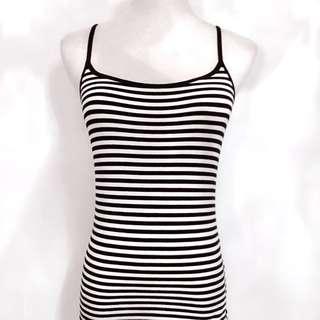 H&M Black & White Stripe Tank Top