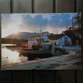 [lapyip1230] 希臘王國 1980年 漁村風光 彩色明信片