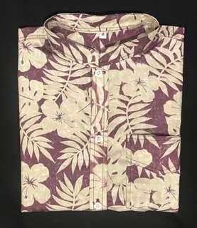 Gumamela Maroon Summer Polo Button up