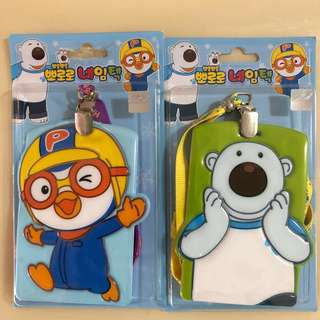 BN 🐧Pororo The Little Penguin & Poby The Polar Bear Card Pocket/ Holder/ Wallet/ Lanyard🐻