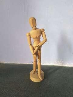 Wooden Mannequin Model for Art Figure Drawing (Female)