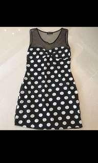 $15 Mesh Polka-dot Cotton Dress!