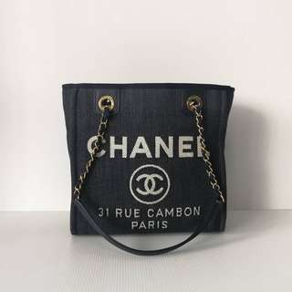 Authentic Chanel PST Denim Shoulder Bag