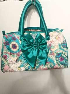 Cute teal floral handbag