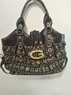 'Guess' large glittered bag