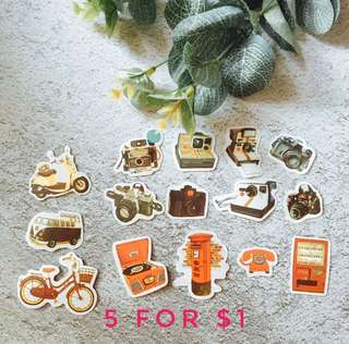 Antique Stickers (5 for $1)