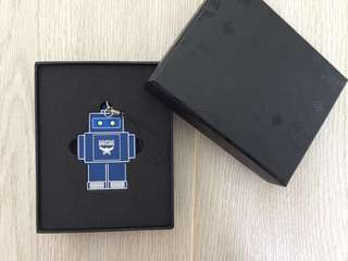 MCM USB Robot 15GB Flash Drive Key Ring Chram Blue手指 藍色