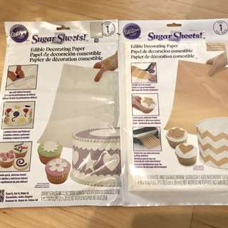 Sugar sheets cake deco