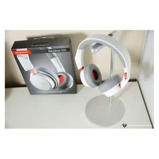 Plantronics BackBeat 505 Bluetooth Headphones (White) with Memory Foam Ear Cushions