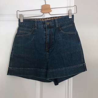 Mango denim high waisted shorts