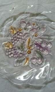 Classic Fruit Bouquet Glass Plate