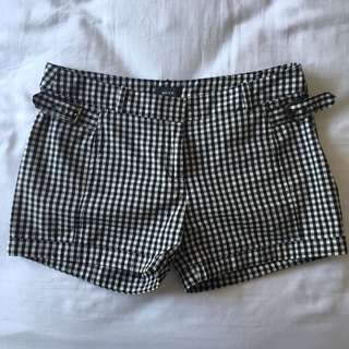 Gingham Patterned Shorts
