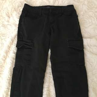 Black jeans with pockets on the side