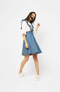 Cottonink ruffles pinafore (skirt)