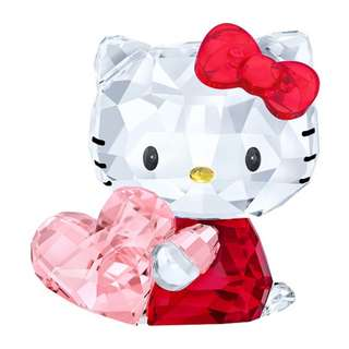 Hello Kitty Pink Heart Swarovski