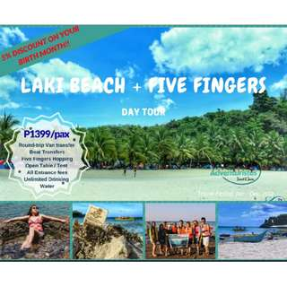 Laki Beach + Five Fingers Day Tour