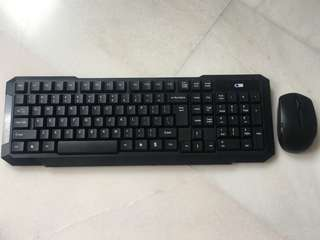 🆕Wireless keyboard and optical mouse combo