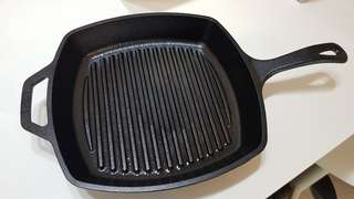 Lodge Cast Iron Square Grill Pan 26cm 10.5 inch